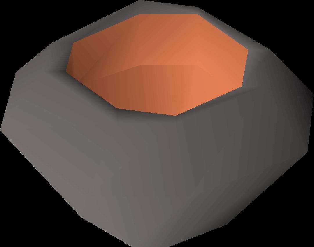 A stone bowl (lava) detail