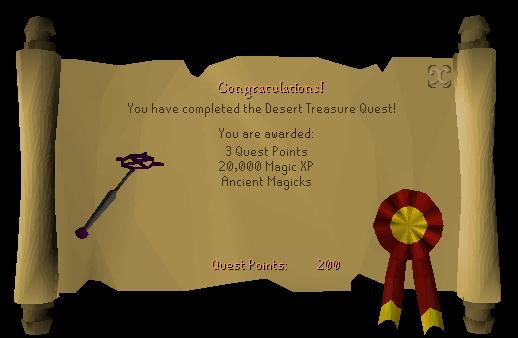 Desert Treasure reward scroll