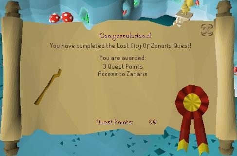 Lost City reward scroll