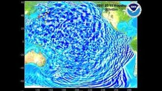 Narrated animation of March 11, 2011 Honshu, Japan tsunami propagation