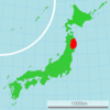 250px-Map of Japan with highlight on 03 Iwate prefecture svg