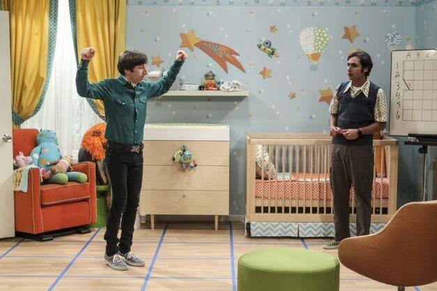 howard and raj big bang theory in nursery