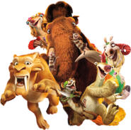 Ice Age Collision Course Scrat Earth Sid, Manny, Diego and Buck