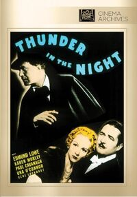 Thunder in the Night (1935) Poster