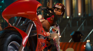 Alvin Riding Motorcycle