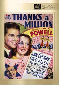 Thanks a Million (1935) Poster