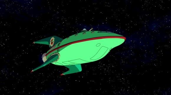 Futurama Planet Express in space