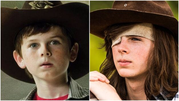 carl season 1 vs season 7 walking dead