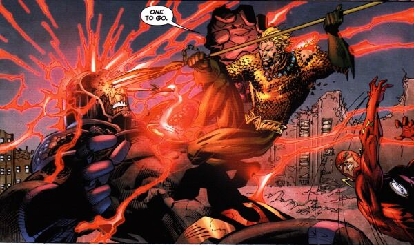 Aquaman takes out Darkseid