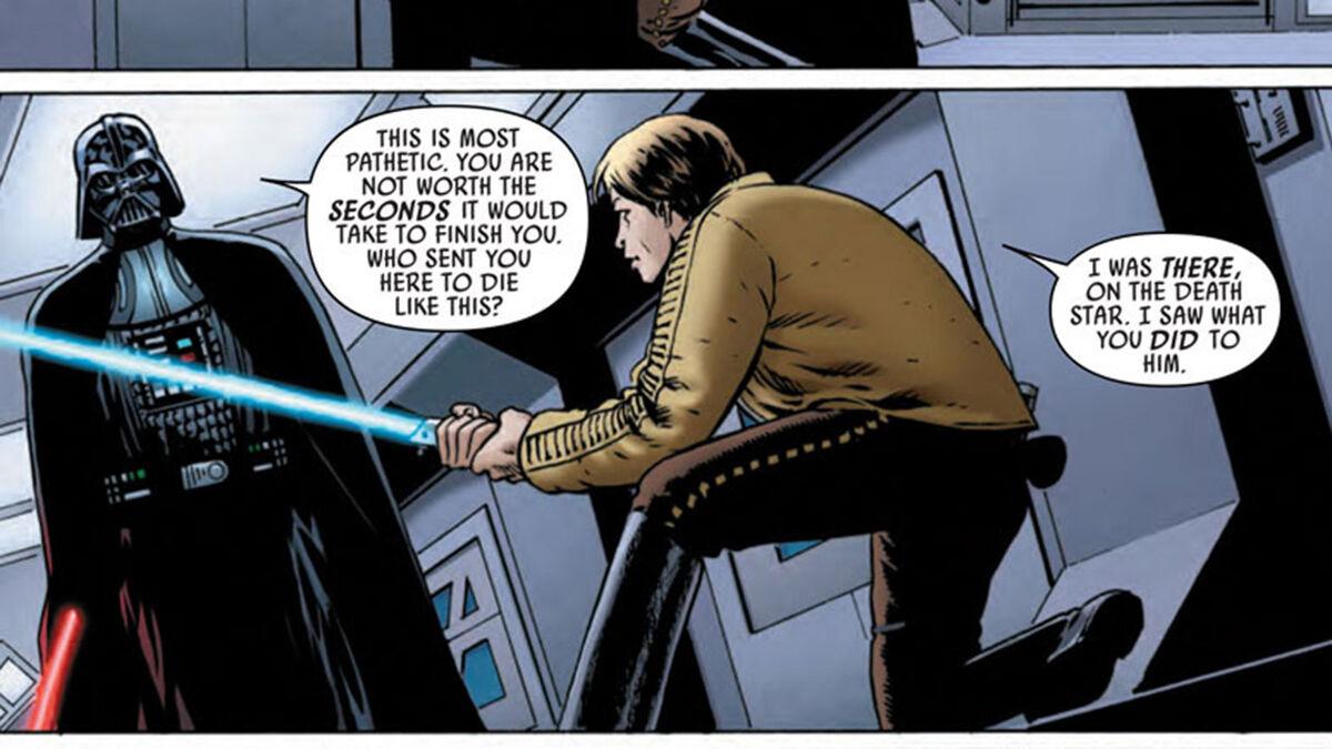 Darth Vader and Luke duel - Star Wars comic series
