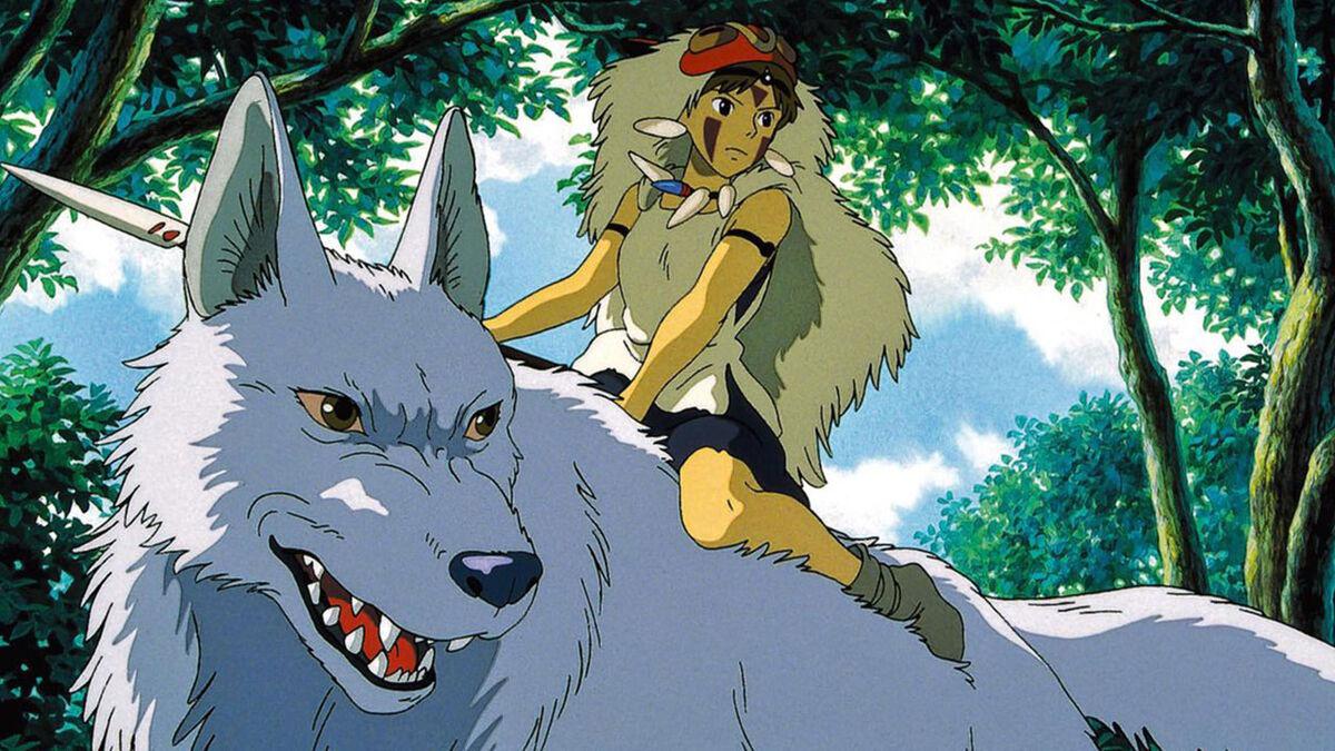 San and wolf, Princess Mononoke