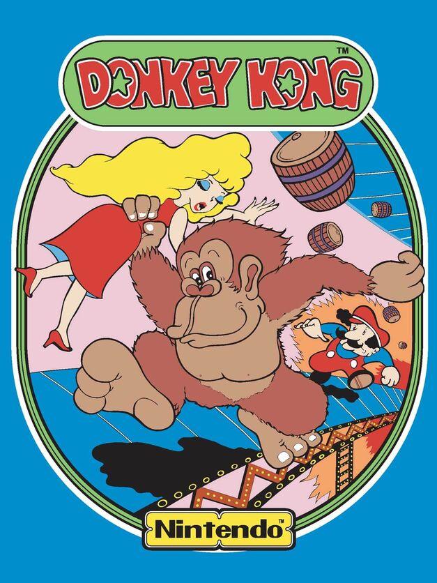 Donkey Kong Arcade Cabinet Art Mario Anniversary