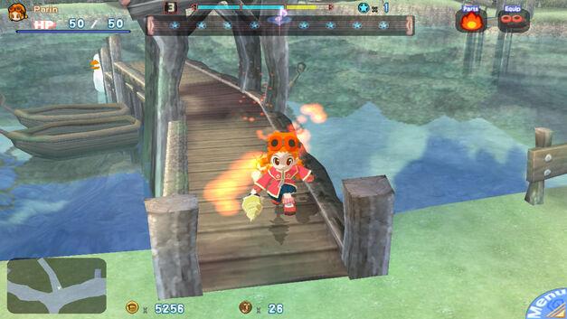 A screenshot of Gurumin for PC.