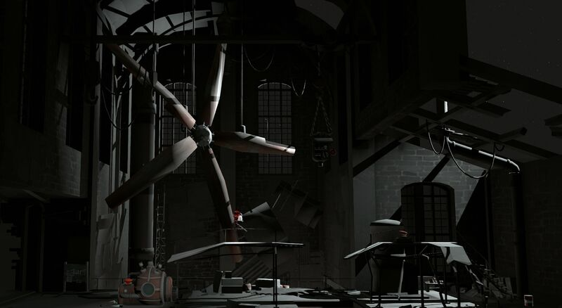 Inside a broken factory