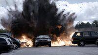 9x07 Vehicle explosion