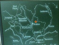 Kosovo map