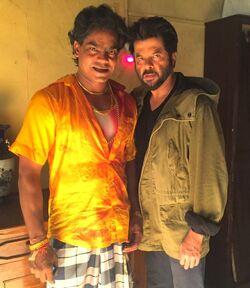 Aadesh Bhardwaj behind the scenes