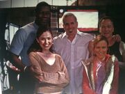 24 Day 4 Crew Pose- Morrison, Mary Lynn, Reiko, Haysbert and Surnow