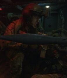 The Raid chopper gunner