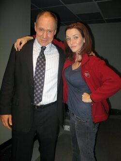 24- Will Patton and Annie Wersching on-set of S7