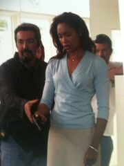 24 Day 3 Finale BTS Jon Cassar and Gina Torres