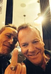 LAD BTS Michael Wincott and Kiefer