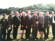 Day 5 Secret Service and Presidential Crew Pose