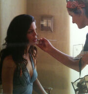 Day 3 Vanessa Ferlito Death Scene Make-Up Prep