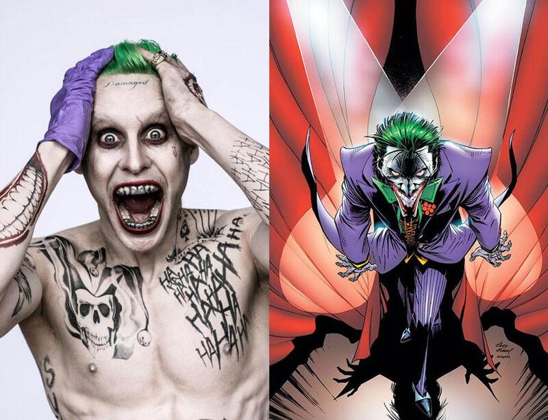 Joker Suicide Squad Comics Movie Comparison