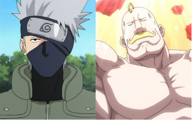 major louis armstrong full metal alchemist and Kakashi Hatake Naruto
