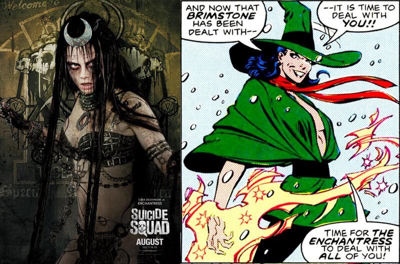 Enchantress Suicide Squad Comics Movie Comparison