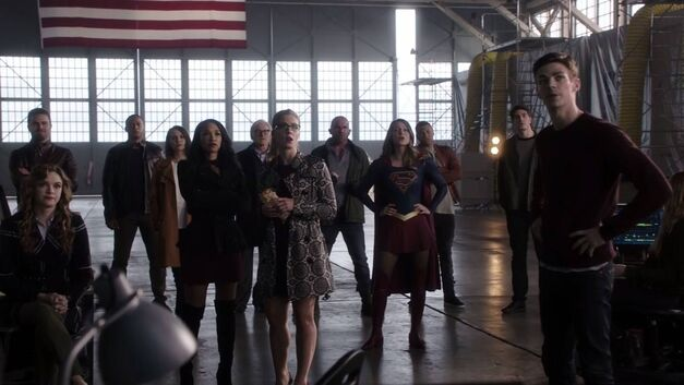 The assembled Arrowverse heroes