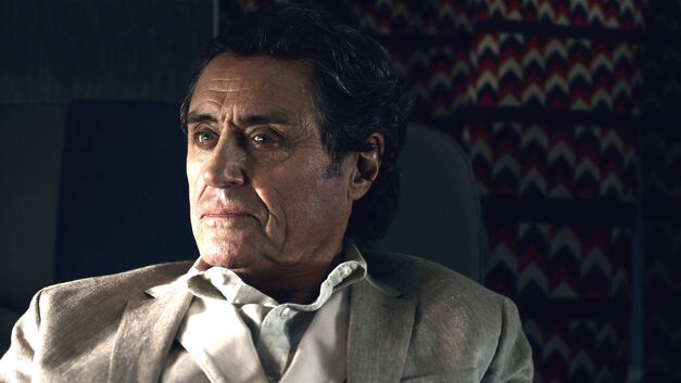 Ian McShane as Mr Wednesday in American Gods