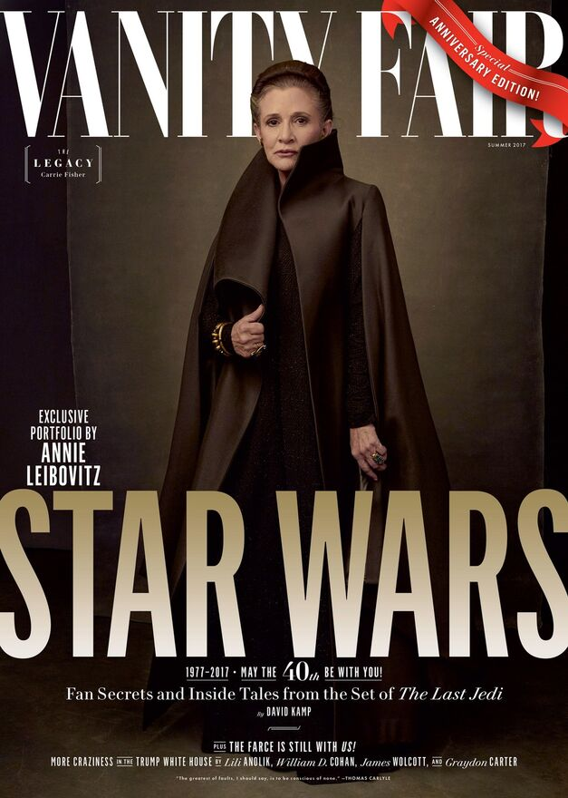 Star Wars Vanity Fair Cover Carrie Fisher