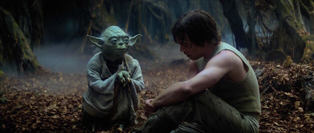 yoda and luke skywalker star wars
