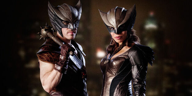 Hawkman & Hawkgirl as they appear on Arrow.