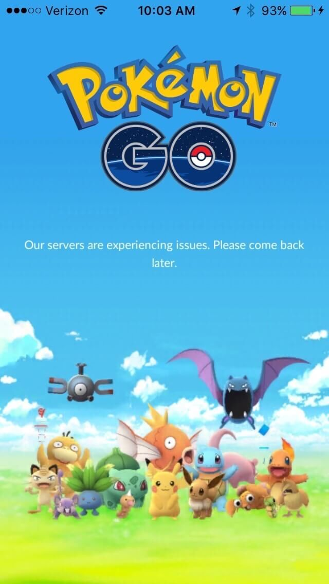Pokemon Go Starter Guide Server Issues