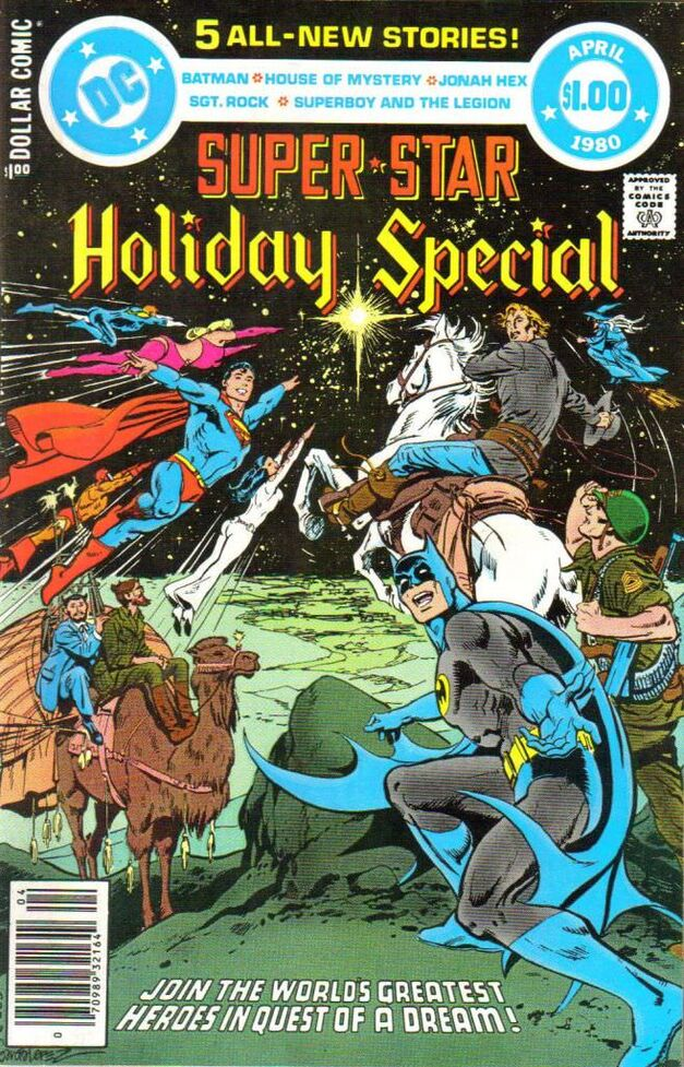 """Super-Star Holiday Special"" comic cover"