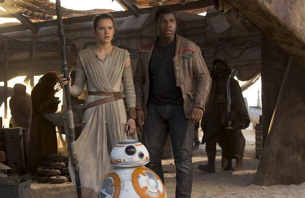 Star Wars the force awakens Rey Finn and BB8