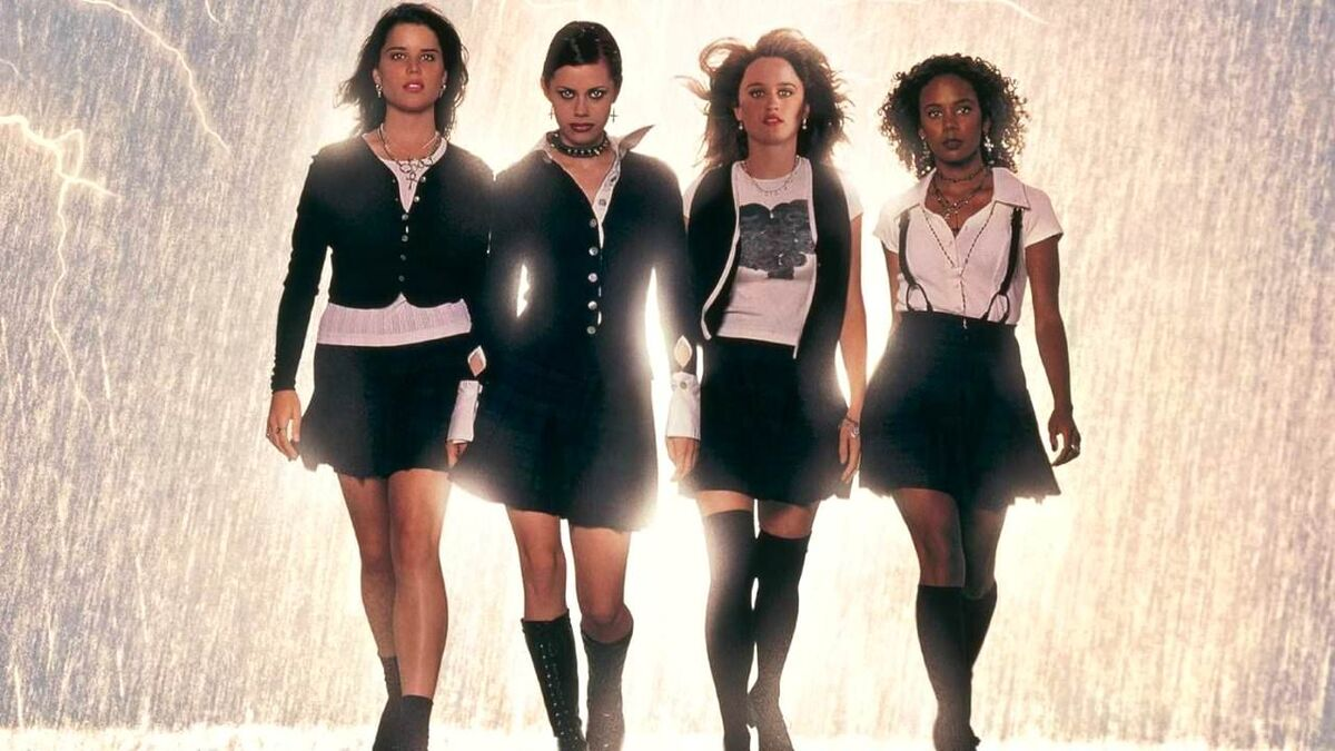 the-craft-girls-walking-with-lightning and sparks