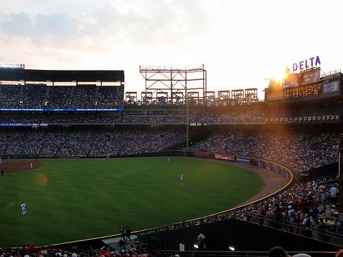 File:Sunset over the Delta Scoreboard - Turner Field, Atlanta GA, June 09.jpg