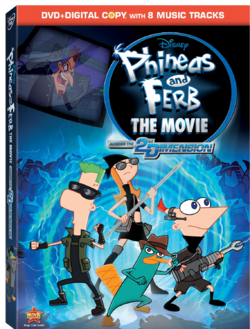 Phineas and Ferb Across the 2nd Dimension DVD cover