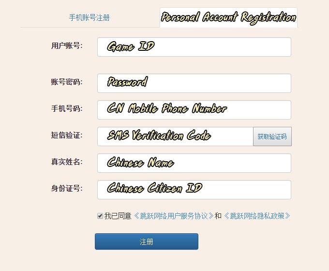 Full Register Info