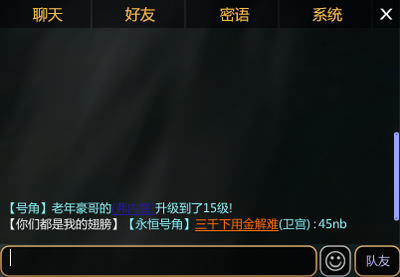 In-Game Chat Interface