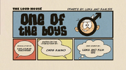 One of the Boys (Re-Written) Title Card