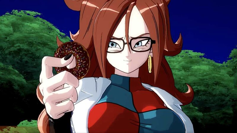 Android 21 scientist donut