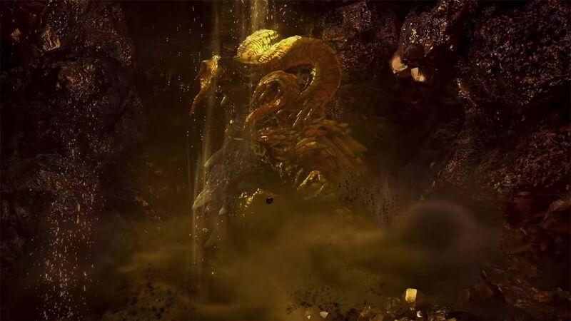 Kulve Taroth emerges in Monster Hunter World