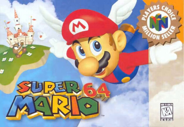 Super Mario 64 Box Art