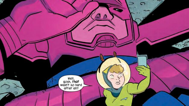 Squirrel Girl Selfie with Galactus