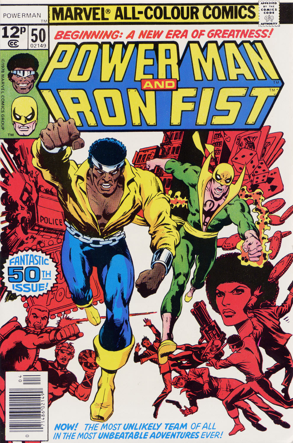 Power Man and Iron Fist comic book cover